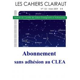2021 : Abonnement aux Cahiers Clairaut sans adhésion